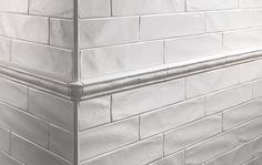 New Yorker By Settecento - Matte White 3 x 12 Glazed Ceramic Tile White Subway Tile Bathroom, White Tiles, Glazed Ceramic Tile, Tile Stores, Modern Master Bathroom, Rustic Bathrooms, Cottage Bathrooms, White Bathrooms, Fireplace Wall