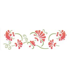 Estêncil para Pintura Simples 10x30 Arabesco Floral OPA1078 - Opa…