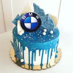 Cake Designs For Boy, Fondant Cake Designs, Beautiful Birthday Cakes, Birthday Cakes For Men, Bmw Torte, Bmw Cake, Birthday Cake For Boyfriend, Icebox Cake Recipes, 40th Cake
