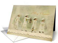 Beautiful Vintage Style Christmas Card. The graphics and textures found on my cards were all digitally created by me. This card is designed to give the impression of a handmade scrapbook card, and that all embellishments are rendered digitally and not tangible items.