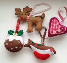 Handmade Felt Christmas Decorations