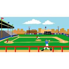 Ugamezone com play free online ugamezone games things for Baseball field mural