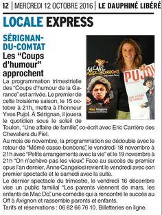 Lancement de la 3 ème saison des Coups d'humour de la Garance