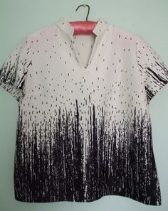 Rain pattern - size M L / boutique WelcomeHomeVintage / 12€02