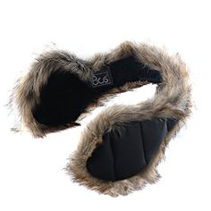 180s Women's Down With Fur Behind The Head Ear Warmer Black -- More info could be found at the image url.