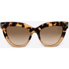 Valentino Occhiali Sunglasses (525 BAM) ❤ liked on Polyvore featuring accessories, eyewear, sunglasses, glasses, lunettes, valentino, sand, valentino glasses, lens glasses and valentino sunglasses