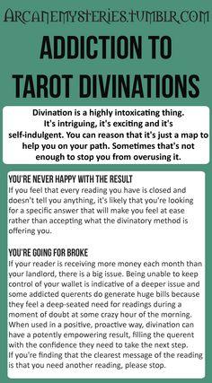 Addiction to Tarot Divinations