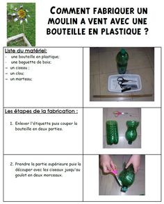 Site internet de l'école maternelle Danielle Casanova - Comment fabriquer un moulin à vent avec une bouteille de plastique ?