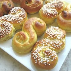 St. Lucia Day is celebrated in Sweden on December 13 with a breakfast of coffee and saffron buns.