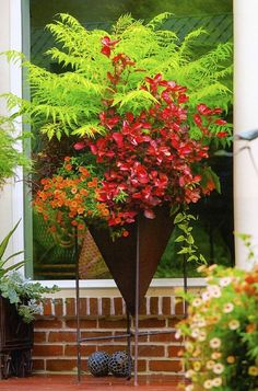 The Encyclopedia of Container Plants by Ray Rodgers puts together a cornucopia of information for the beginning and novice container gardener. Must look for this in print! Container Flowers, Container Plants, Beautiful Gardens, Beautiful Flowers, Garden Planters, Outdoor Planters, Pot Plante, Garden Whimsy, Container Design