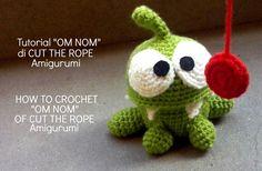 "Tutorial ""OM NOM"" di CUT THE ROPE Amigurumi | HOW TO CROCHET ""OM NOM"" OF..."