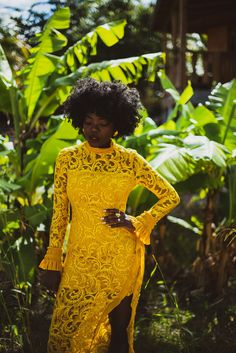 I love this outfit and color on Simplycyn YELLOW FEVER | simplycyn #summeroutfits #yellowdress #summerdress #lacedress Lace Dress, Dress Up, High Neck Dress, Winter Outfits, Summer Outfits, Summer Dresses, Cos Looks, Us Armor, Putting Outfits Together