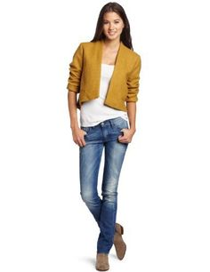 BB Dakota Juniors Suki Jacket BB Dakota. $23.79. Coin pockets. Shell: 54% Polyester/36% Wool/5% Acrylic/5% Rayon; Lining:100% Polyester. Tails in back. Dry Clean Only. Cropped in front