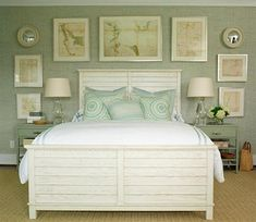 Beach-House-Interior-Design- Master Bedroom  Colors  Maps