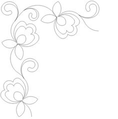 Embroidery Pattern from Pretty Posies Border Corner - jwt Quilting Stencils, Quilting Templates, Longarm Quilting, Free Motion Quilting, Quilting Tutorials, Machine Quilting Patterns, Hand Embroidery Patterns, Quilt Patterns, Embroidery Designs