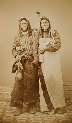 An old photograph of Brothers/Friends - Ute c1867.