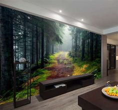 Norwegian Forest Nature Full Wall Mural Photo Wallpaper Print Kids Home 3D  Decal Part 21