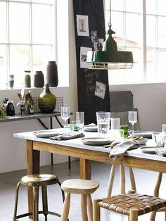 Nueve ideas para introducir el acabado #pizarra en tu hogar #comedor