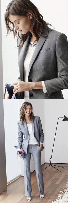 nice The new power suit is simple, feminine and oh-so polished. Break up the pieces f...