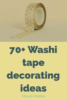 Crazy uses and DIY washi tape ideas for home organization, projects, storage, art and wallpaper that will inspire you to be creative today. Diy Washi Tape Crafts, Washi Tape Storage, Washi Tape Uses, Diy Washi Tape Wall, Washi Tape Planner, Washi Tape Cards, Diy Crafts For School, Teen Crafts, Tape Wall Art