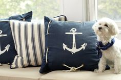 Accent Pillows. A great way to anchor the theme of your baby shower throughout the party space.