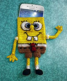Great weekend crochet Project. This is both fun and easy to make :) https://www.etsy.com/no-en/listing/202495366/spongebob-squarepants-cell-phone-case?ref=listing-shop-header-1