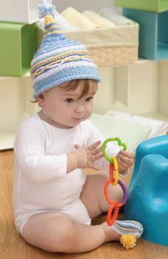 Gorro de bebé y zapatos Instrucción con agujas
