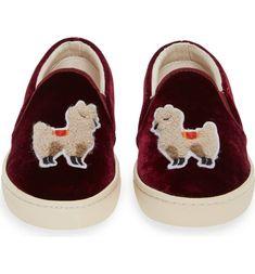84601b2bda95 Soludos Velvet Llama Sneaker (Women)
