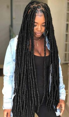 25 Popular Black Hairstyles We're Loving Right Now Need some new hair ideas? Always like to keep track of the hair trends and like t… - New Sites Faux Locs Hairstyles, Braided Hairstyles For Black Women, African Braids Hairstyles, My Hairstyle, Protective Hairstyles, Ponytail Hairstyles, Girl Hairstyles, Protective Styles, Hairstyle Ideas