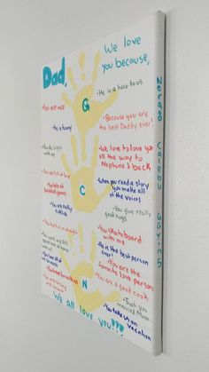 kids DIY fathers day gift idea. Simple & low cost DIY Fathers day gift ideas.Perfect kids craft ideas, easy enough for them to help celebrate Dad! Cute picture ideas and DIY wall art for the home. Sweet gifts from the heart.