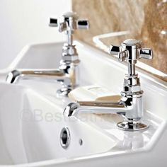 Create a classic look with these beautiful basin taps