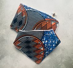 African Print Bamboo Bib and Burp Cloth Set. New for 2018!