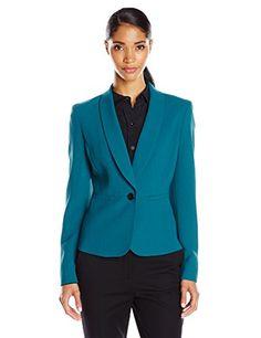 Anne Klein Women's One Button Shawl Lapel Suit Jacket