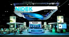 Nidek Trade Show Exhibit Example -AAQ, 70'X60"