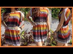 """How to make Short """"N"""" Sassy Slit Sleeved Dress DamaV425 DIY"""