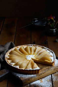 Pear and Almond Frangipane Tart /