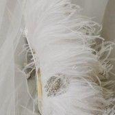feathers! pretty. #handmade #wedding #bag #clutch