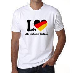 Ahrenshagen daskow, Men's Short Sleeve Rounded Neck T-shirt