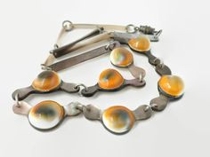 Vintage Operculum and Mother Of Pearl Shell Necklace
