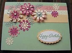 create a beautiful birthday card with flower punches