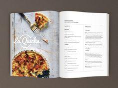 Mise en page de trois recettes dans un magazine fictif. www.julienponton.com