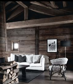 Ski resort in France. From ELLE Decoration