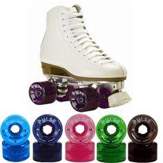 Women Outdoor High Top Roller Skates Size 4-11 With Atom Pulse Wheels #Atom