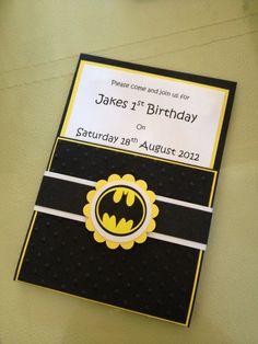Handmade Batman Party Invitations & Envelopes
