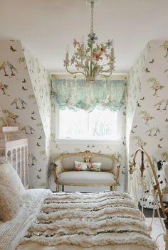 Bijou and Boheme: Ava's Room with Perroquet wallpaper