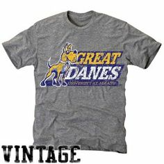 NCAA Albany Great Danes Ash Distressed Logo Vintage Tri-Blend T-shirt by Football Fanatics. $24.95. Albany Great Danes Ash Distressed Logo Vintage Tri-Blend T-shirtRib-knit collarDistressed screen print graphicsImported50% Polyester/25% Cotton/25% RayonFittedLightweight super soft tri-blend T-shirt40 Singles ringspun cotton for ultimate softnessOfficially licensed collegiate product50% Polyester/25% Cotton/25% RayonLightweight super soft tri-blend T-shirtDistres...