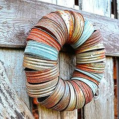 Canning Jar Lid Wreath | Funky Junk Interiors