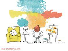 O que os filhos ensinam | Mini artistas | Pintar | Arte | Art | Painting | Wall painting