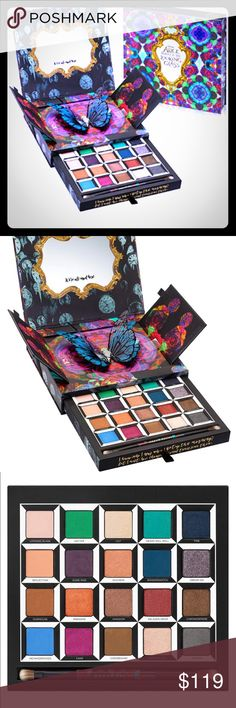 Discontinued UD Alice Through The Looking Glass DISCONTINUED~BRAND NEW~URBAN DECAY Alice Through the Looking Glass Palette with Brush  Each eyeshadow features the Pigment Infusion System™, a proprietary blend of ingredients that gives every shade its velvety texture, rich color, serious staying power and blendability. Urban Decay even included a double-ended brush for the perfect application. This palette features colorful, kaleidoscopic artwork woven out of flowers and butterflies and…