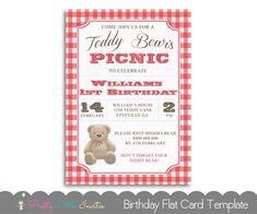 Teddy Bear Party Invitation Custom Printable Bear Birthday Party